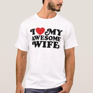 Camiseta Eu amo minha esposa impressionante