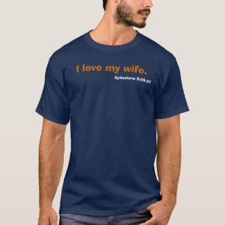 Camiseta Eu amo minha esposa., o 5:25 de Ephesians - 27