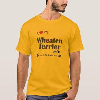 Camiseta Eu amo minha mistura Wheaten de Terrier (o cão
