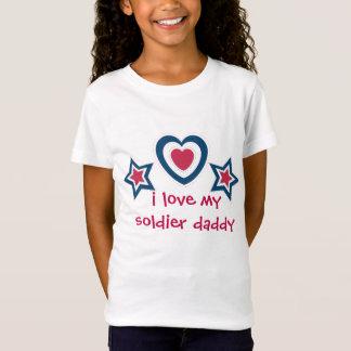 Camiseta Eu amo minhas mamães do pai do soldado - 4ns de