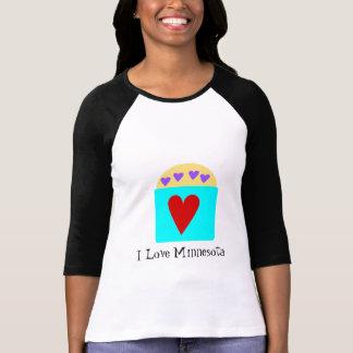 Camiseta Eu amo Minnesota