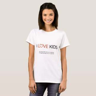 Camiseta EU AMO miúdos…