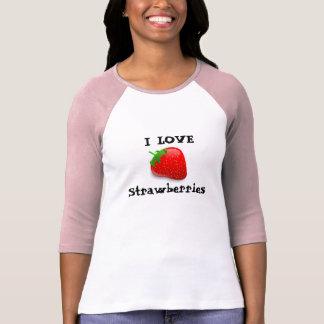 Camiseta Eu amo morangos