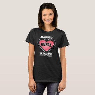 Camiseta Eu amo Nepal | que importam-se estou