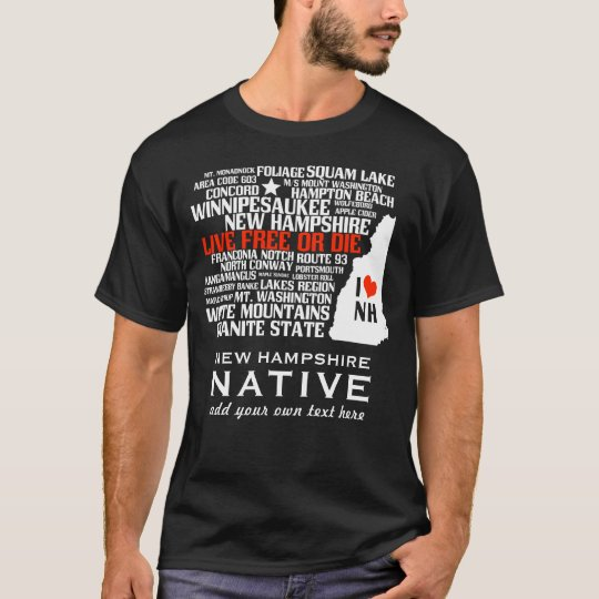 Camiseta Eu amo New Hampshire