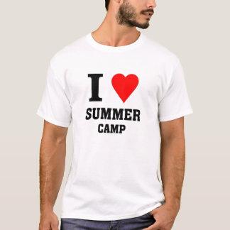 Camiseta Eu amo o acampamento de Verão