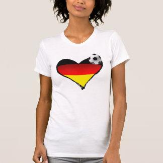 Camiseta Eu amo o amor do alemão do coração do futebol de