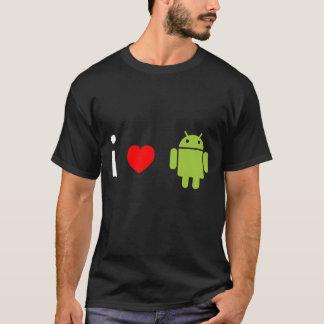 Camiseta Eu amo o Android