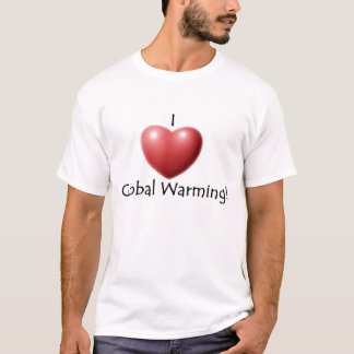 Camiseta Eu amo o aquecimento global