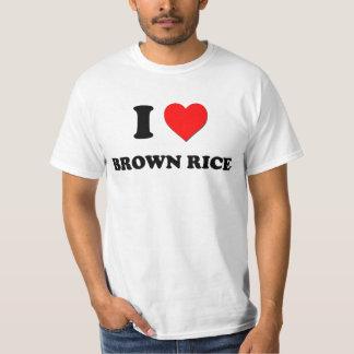 Camiseta Eu amo o arroz integral (a comida)