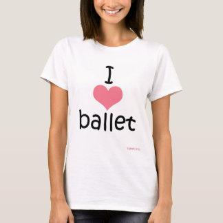 Camiseta Eu amo o balé!