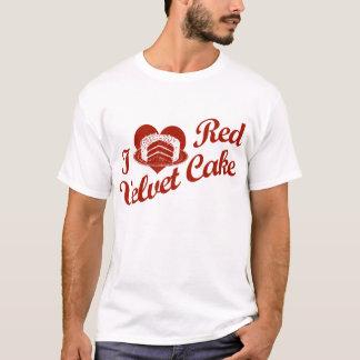 Camiseta Eu amo o bolo vermelho de veludo