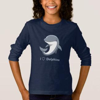 Camiseta Eu amo o Bottlenose bonito dos golfinhos