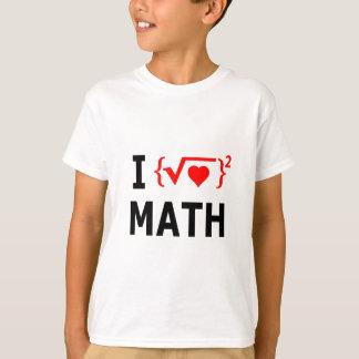 Camiseta Eu amo o branco da matemática