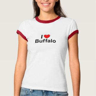 Camiseta Eu amo o búfalo do coração