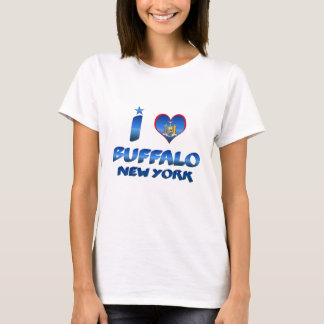 Camiseta Eu amo o búfalo, New York