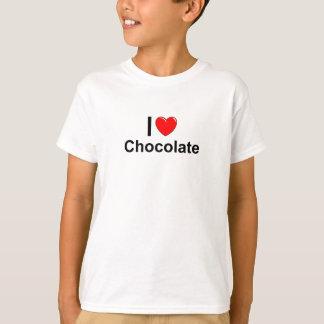 Camiseta Eu amo o chocolate do coração