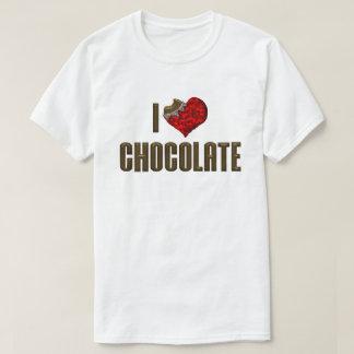 Camiseta Eu amo o chocolate do coração - amante do cacau da