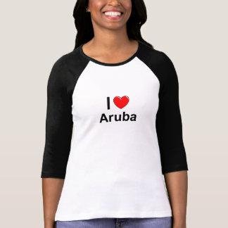 Camiseta Eu amo o coração Aruba