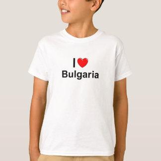 Camiseta Eu amo o coração Bulgária