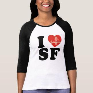 Camiseta Eu amo o coração da ponte de San Francisco