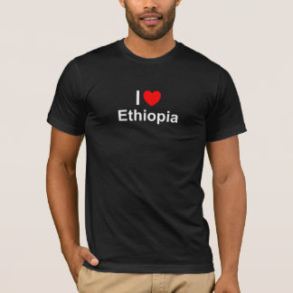 Camiseta Eu amo o coração Etiópia