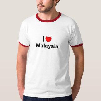 Camiseta Eu amo o coração Malaysia