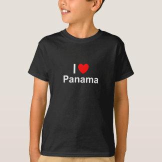 Camiseta Eu amo o coração Panamá