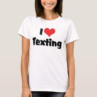 Camiseta Eu amo o coração Texting