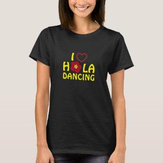 Camiseta Eu amo o costume de Hula para Yamamoto Hula Ohana