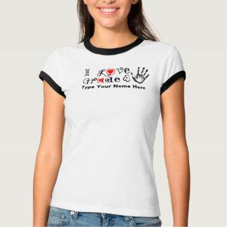 Camiseta Eu amo o _da categoria/toque dos professores