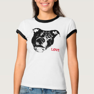 Camiseta Eu amo o design do logotipo de Pitbulls - na moda