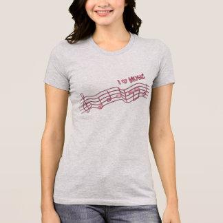 Camiseta eu amo o design do t-shirt dos melómanos da música