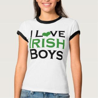 Camiseta Eu amo o Dia de São Patrício bonito dos meninos