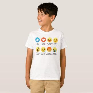 Camiseta Eu amo o Emoticon social do FUTEBOL (emoji) (a pia