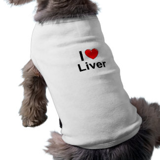 Camiseta Eu amo o fígado do coração