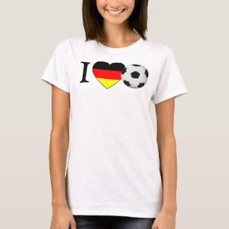 Camiseta Eu amo o futebol alemão (a alemanha do futebol)