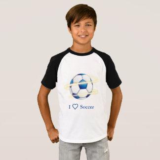 Camiseta Eu amo o futebol com monograma