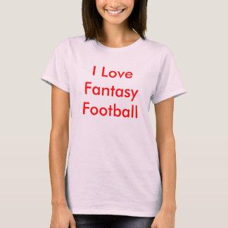 Camiseta Eu amo o futebol da fantasia