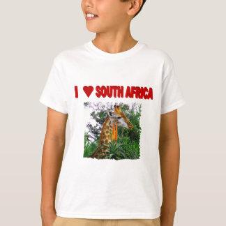 Camiseta Eu amo o girafa do aloés de África do Sul