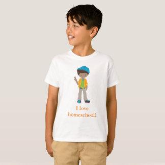 Camiseta Eu amo o homeschool! Menino