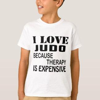 Camiseta Eu amo o judo porque a terapia é cara