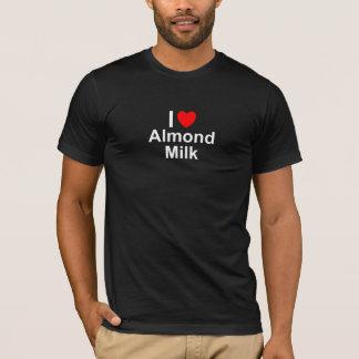 Camiseta Eu amo o leite da amêndoa do coração