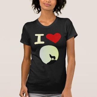 Camiseta Eu amo o lobo