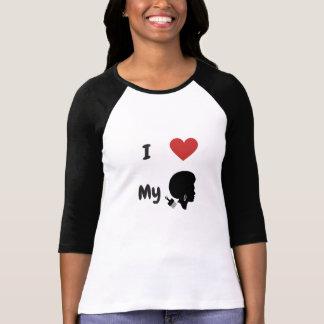 Camiseta Eu amo o meu para 3/4 de t-shirt da luva