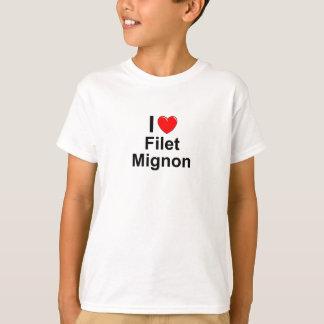 Camiseta Eu amo o Mignon de faixa do coração