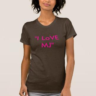 """Camiseta """"Eu amo o MJ """""""