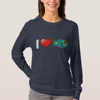 Camiseta Eu amo o Parrotfish do sinal de trânsito
