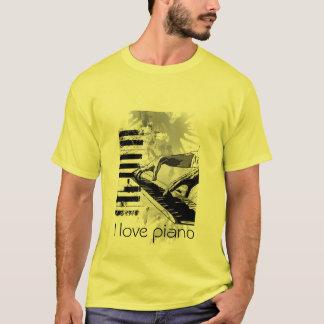 Camiseta Eu amo o piano