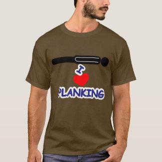 Camiseta Eu amo o Planking (do coração)